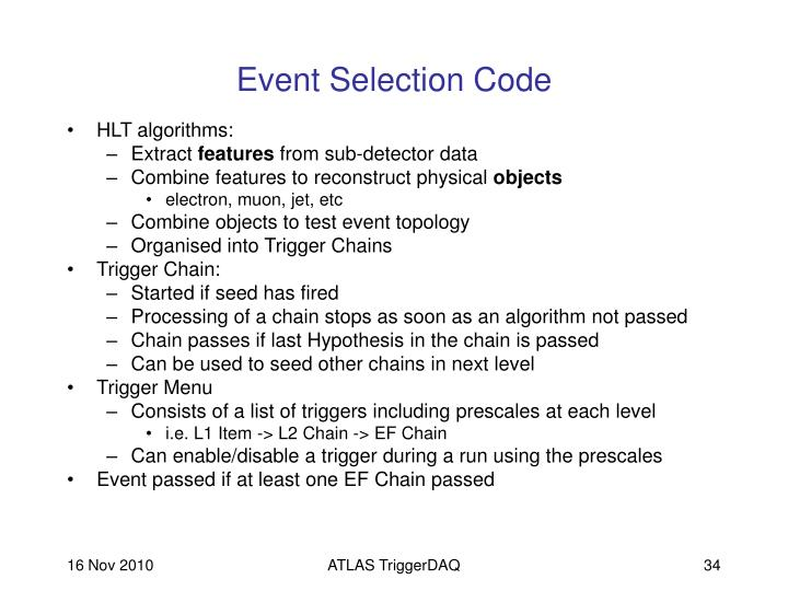 Event Selection Code