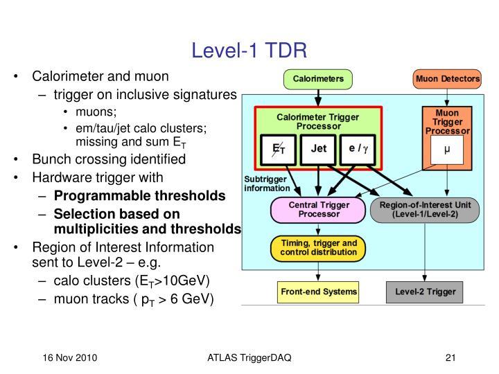 Level-1 TDR