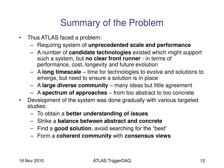 Summary of the Problem