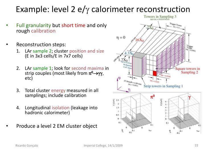 Example: level 2 e/