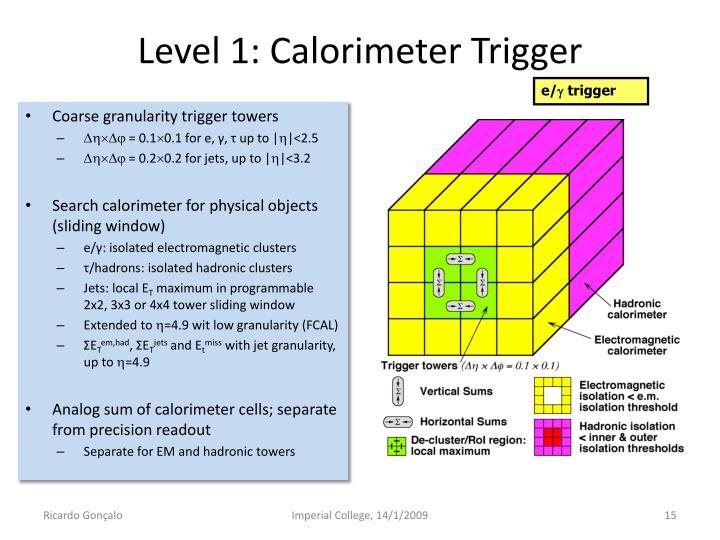 Level 1: Calorimeter Trigger