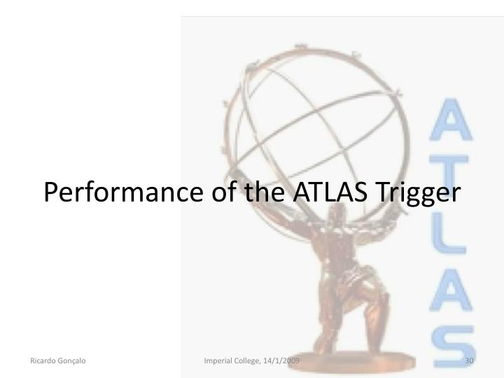 Performance of the ATLAS Trigger
