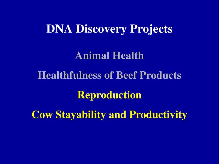 Dna discovery projects