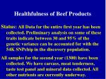 healthfulness of beef products1