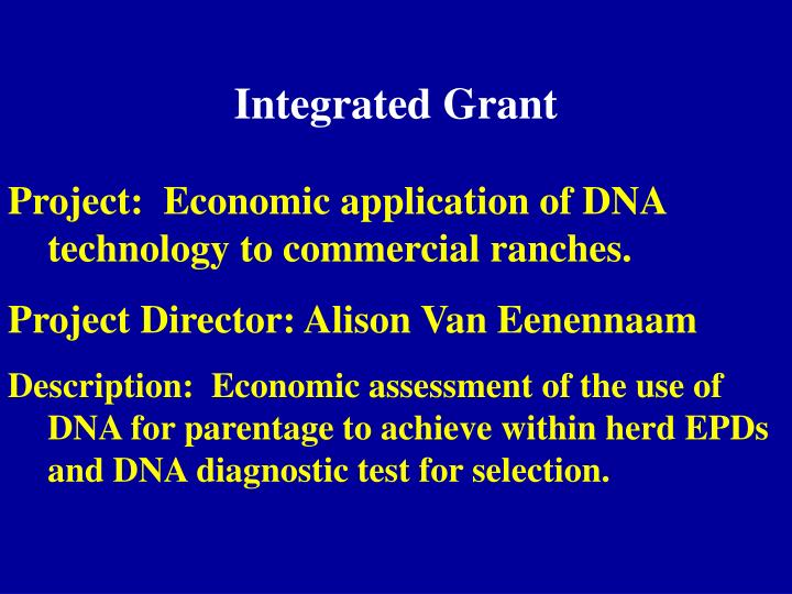 Integrated Grant