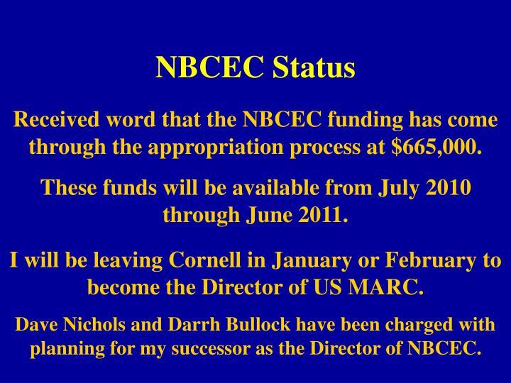 NBCEC Status