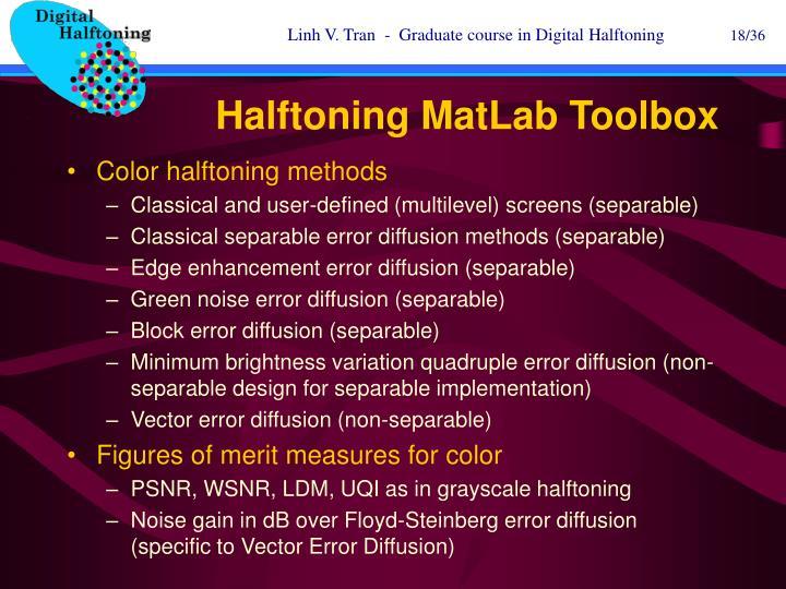 Halftoning MatLab Toolbox