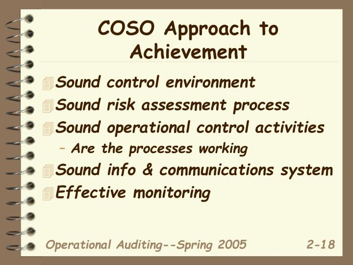 COSO Approach to Achievement