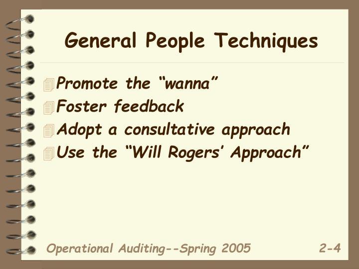 General People Techniques