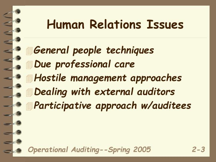 Human Relations Issues