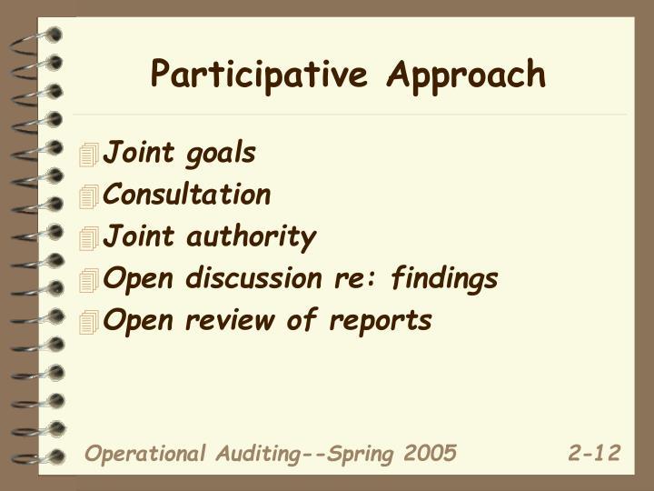 Participative Approach