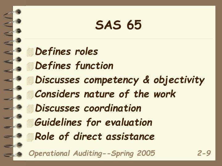 SAS 65