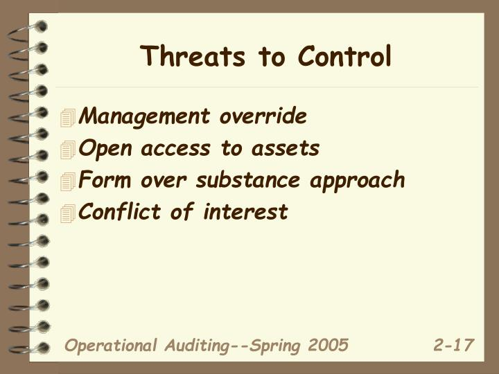 Threats to Control