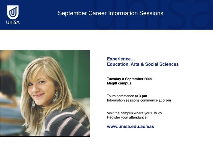 September Career Information Sessions