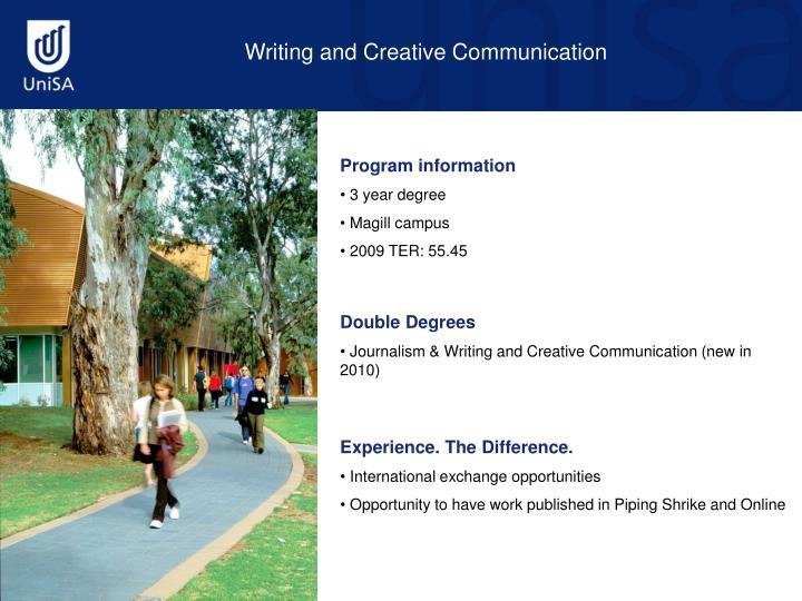 Writing and Creative Communication