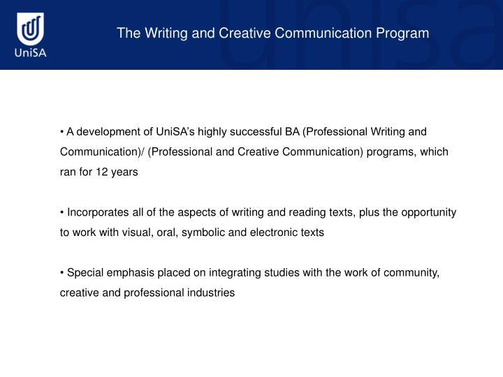 The Writing and Creative Communication Program