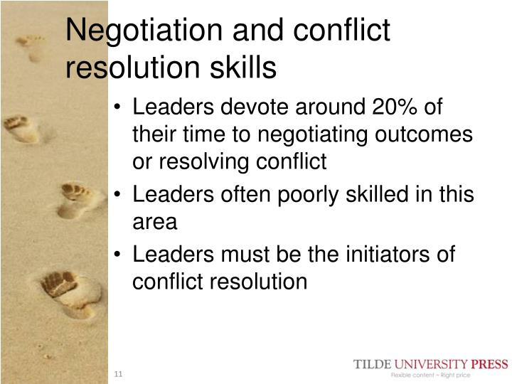 Negotiation and conflict resolution skills