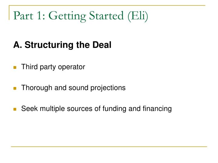 Part 1: Getting Started (Eli)