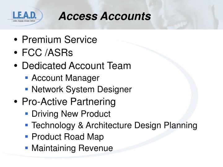 Access Accounts