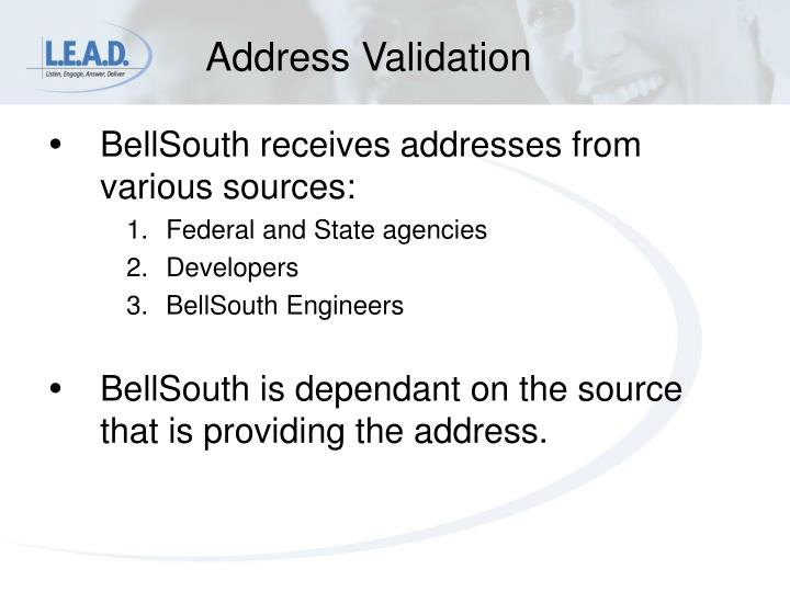 Address Validation
