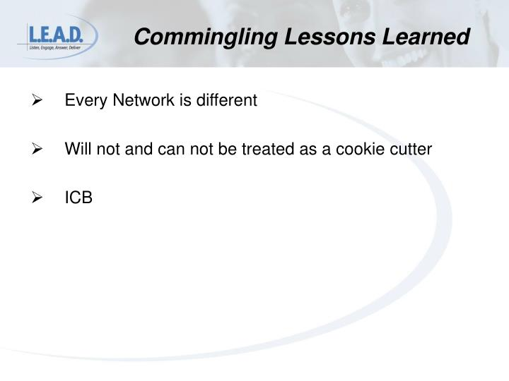 Commingling Lessons Learned