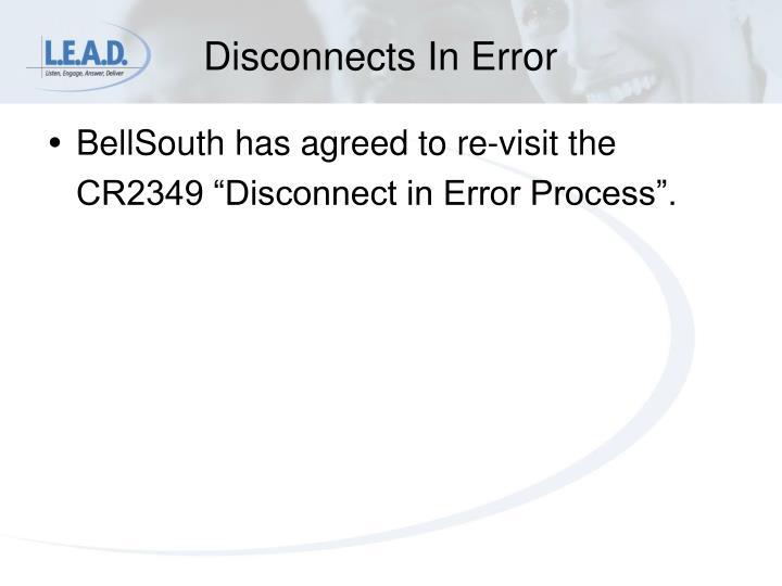 Disconnects In Error