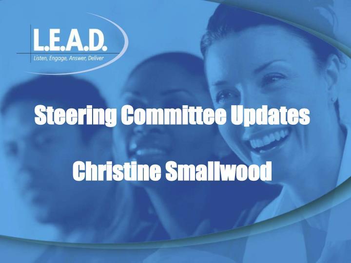 Steering Committee Updates
