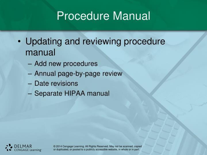 Procedure Manual