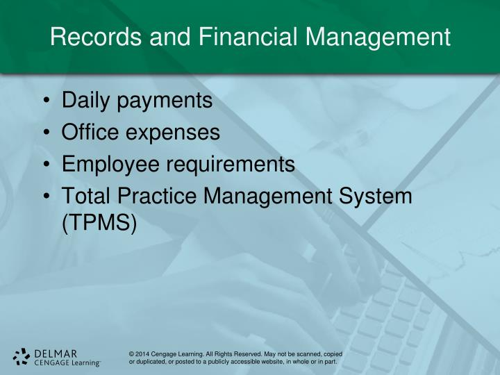 Records and Financial Management