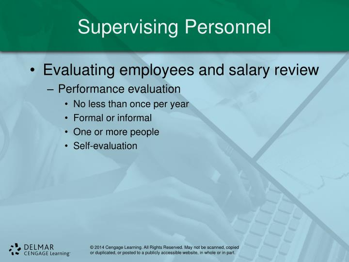 Supervising Personnel