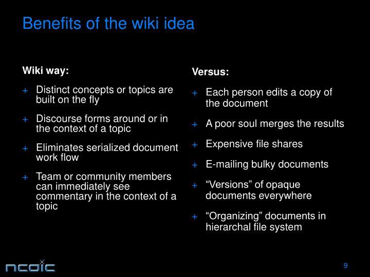 Wiki way: