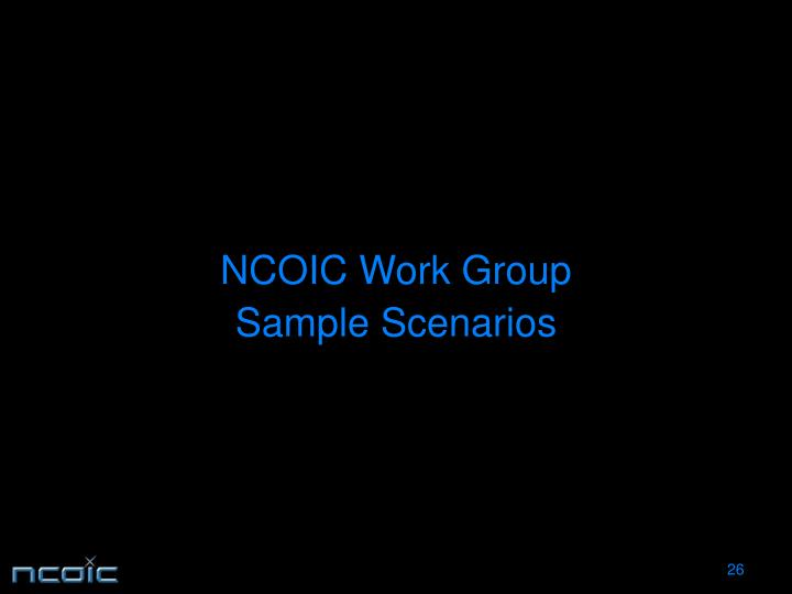 NCOIC Work Group