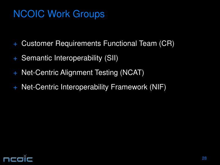 NCOIC Work Groups