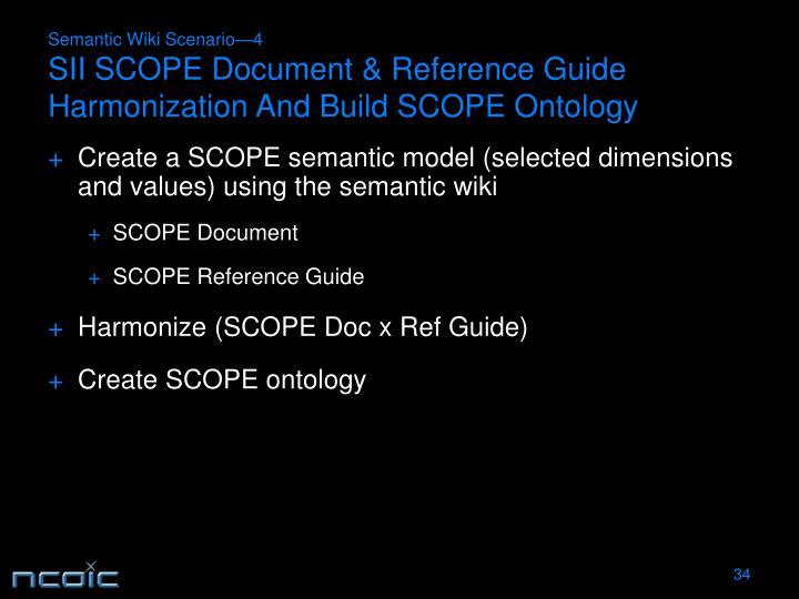 Semantic Wiki Scenario—4
