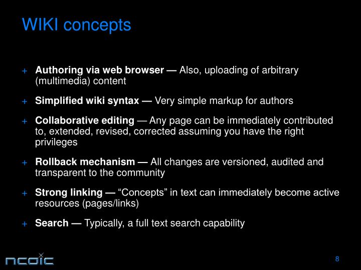 WIKI concepts