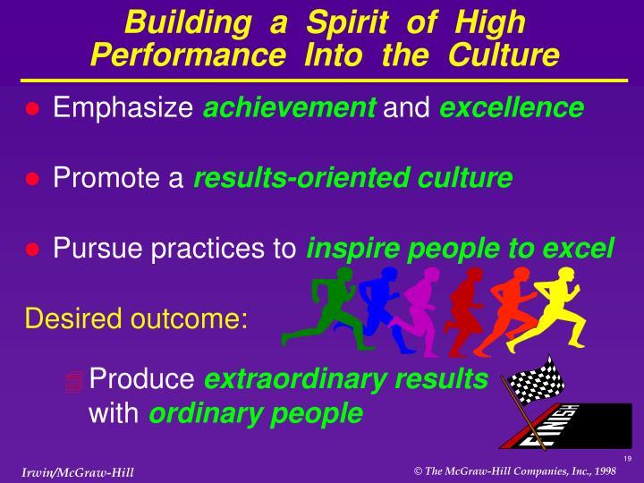 Building  a  Spirit  of  High