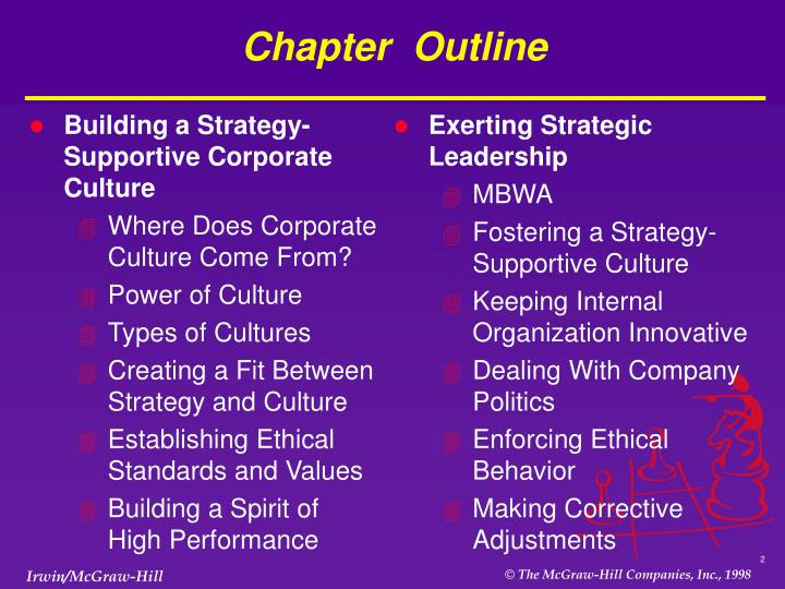 Building a Strategy-Supportive Corporate Culture