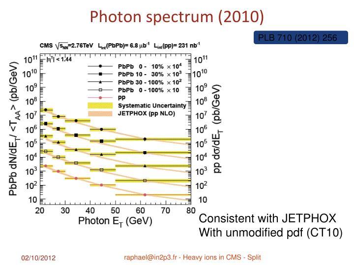 Photon spectrum (2010)