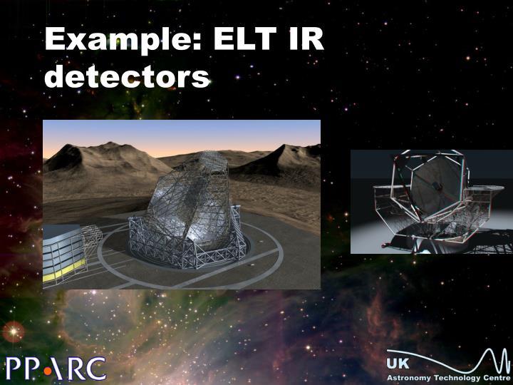 Example: ELT IR detectors