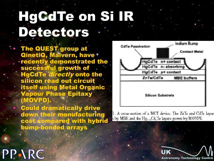 HgCdTe on Si IR Detectors