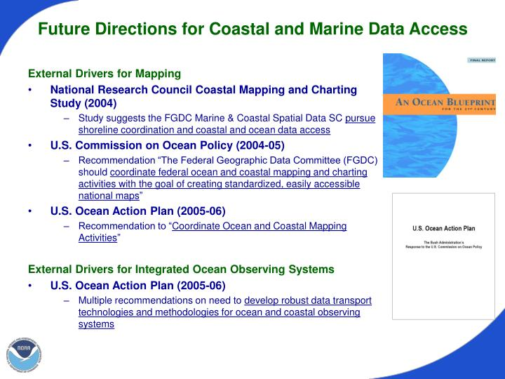 Future Directions for Coastal and Marine Data Access