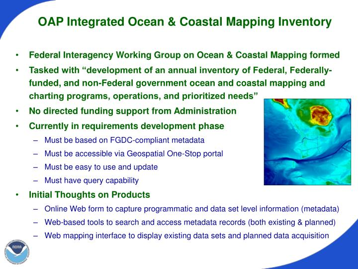 OAP Integrated Ocean & Coastal Mapping Inventory