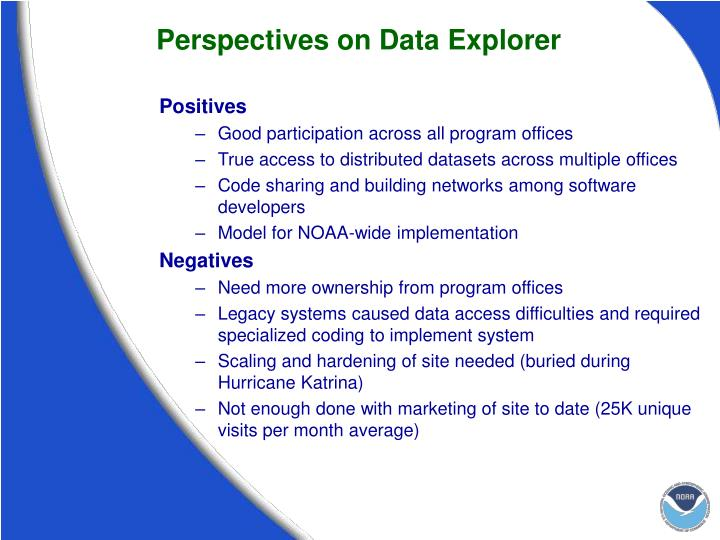 Perspectives on Data Explorer