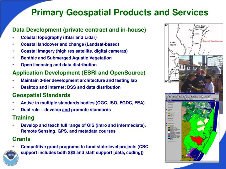 Primary Geospatial Products and Services