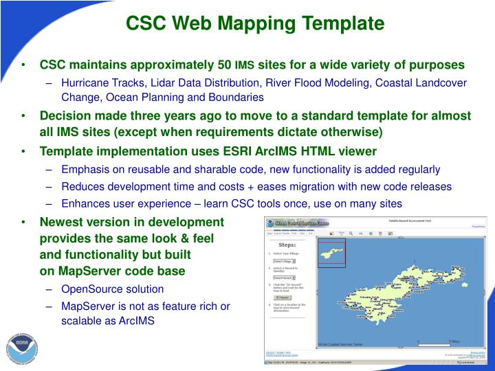 CSC Web Mapping Template