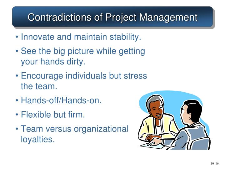 Contradictions of Project Management