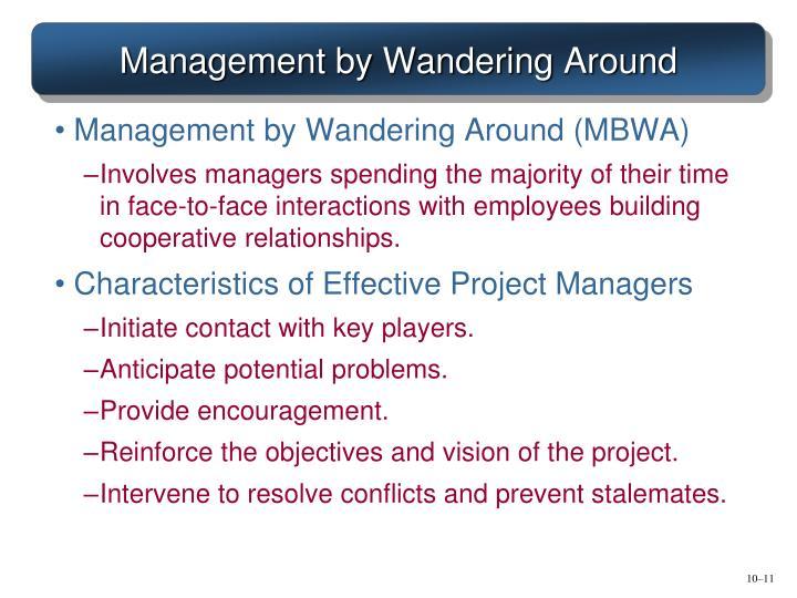 Management by Wandering Around
