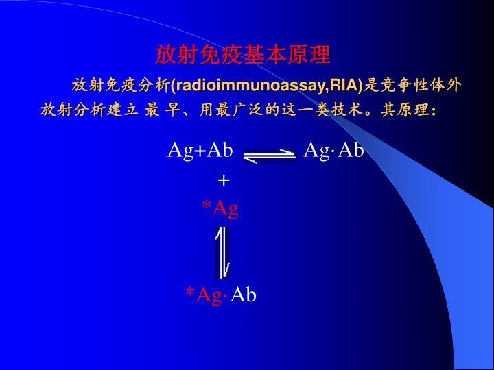 放射免疫基本原理