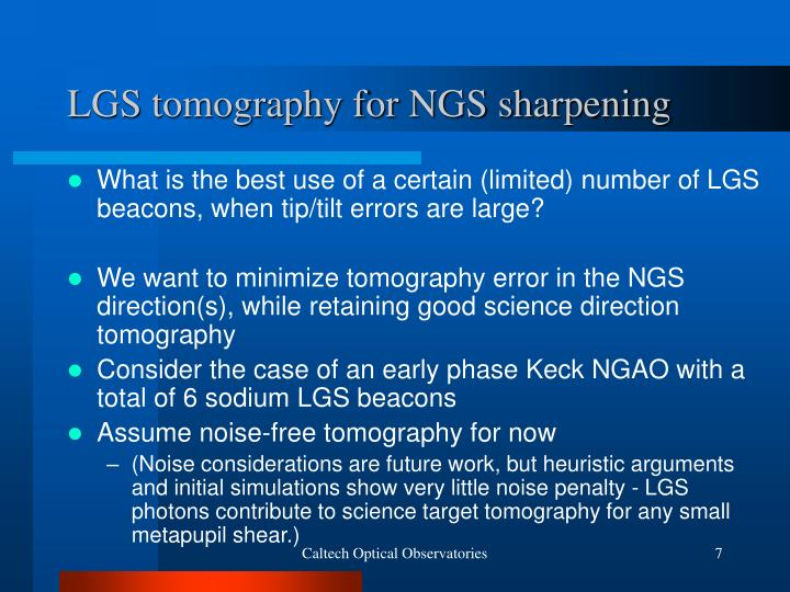 LGS tomography for NGS sharpening