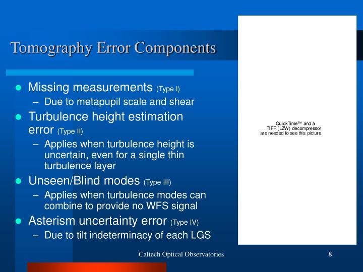 Tomography Error Components
